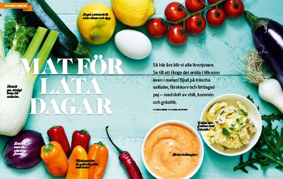 Lata sommardagar vill vi laga enkelt och lätt. Anne bjuder på tomatpaj, fänkålssallad och grillad färskkorv.