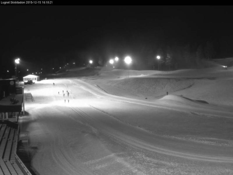 Skidspår 1 km på Lugnet i Falun.