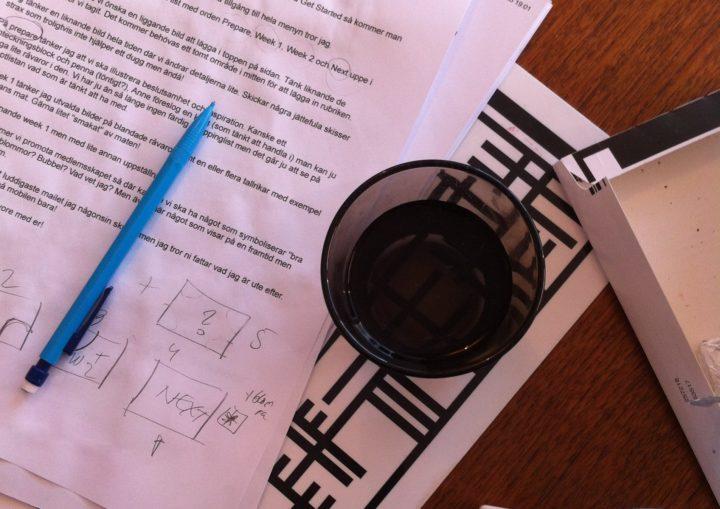 Placering är A och O! Nya recept ska fotograferas under ett par dagar.