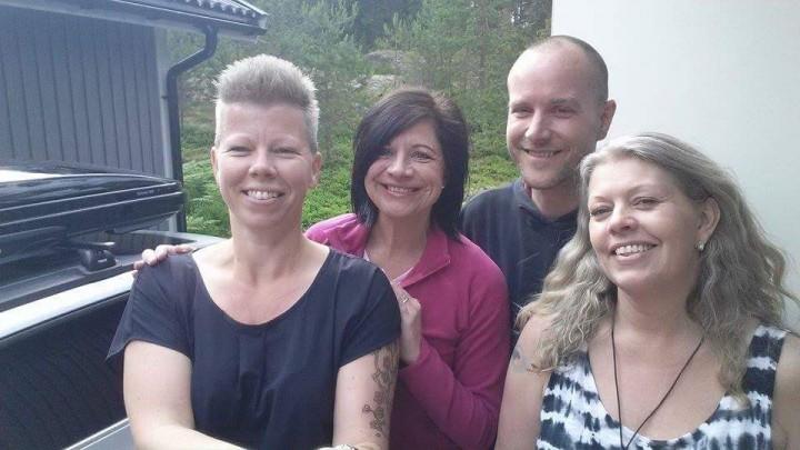 Pernilla Lantz, jag, Peter Rasmussen och Lena Winther